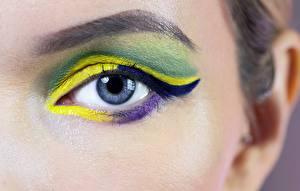 Hintergrundbilder Augen Hautnah Make Up junge frau