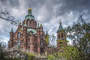 Fotos Finnland Helsinki Tempel Kirche Zaun Uspenski Cathedral