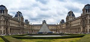 Wallpapers France Landscape design Paris Palace Museum Louvre Museum