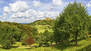 Bilder Deutschland Felder Himmel Hügel Bäume Wolke Hepsisau Natur