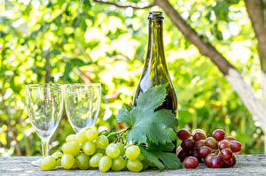 Images Grapes Wine Bottles Stemware Food