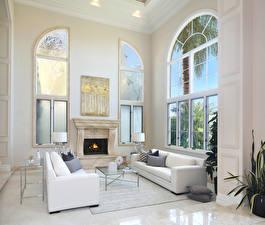 Image Interior Design Lounge sitting room Sofa Fireplace