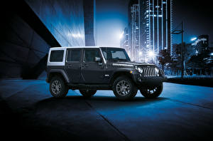 Bilder Jeep Sport Utility Vehicle Grau 2018 Wrangler Unlimited JK Edition auto