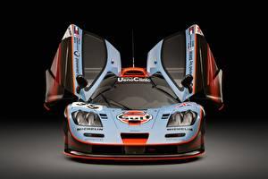 Hintergrundbilder McLaren Vorne Offene Tür F1 GTR long tail 25R 1993 24 Hours of Le Mans Autos
