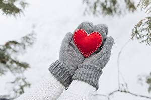 Fotos Fausthandschuhe Herz Hand