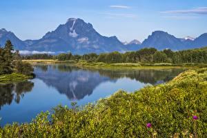 Fotos & Bilder Gebirge See USA Park Grand Teton National Park, Wyoming Natur