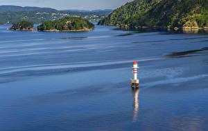 Hintergrundbilder Oslo Norwegen Insel Leuchtturm Bucht Natur