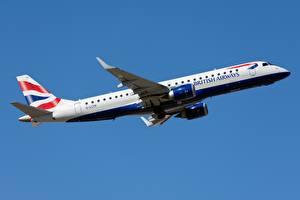 Bilder Verkehrsflugzeug British Airways, Embraer ERJ-190