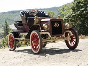 Fotos & Bilder Retro Bordeauxrot 1905-08 REO Model B Runabout Autos