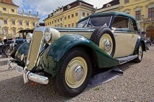 Desktop hintergrundbilder Retro Metallisch 1939 Horch 930 V Autos