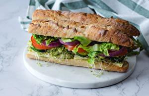 Bilder Sandwich Brot das Essen