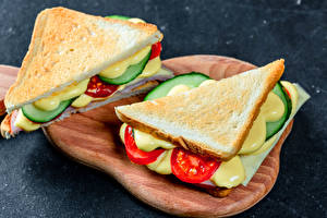 Image Sandwich Bread Cutting board 2