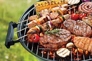 Fotos Schaschlik Fleischwaren Barbecue das Essen
