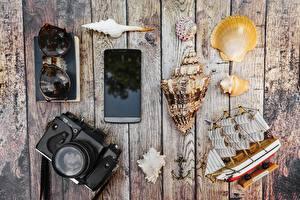 Bilder Muscheln Schiffe Bretter Fotoapparat Smartphone Brille