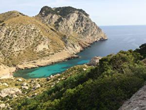 Fotos Spanien Bucht Felsen Kleine Bucht Cap de Formentor, Island of Mallorca Natur