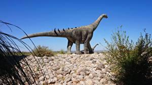 Wallpaper Stones Dinosaurs Sculptures Brontosaurus