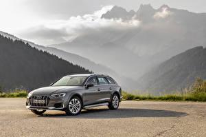 Hintergrundbilder Audi Grau Metallisch Kombi 2019 A4 allroad quattro Autos