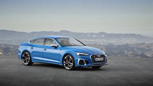 Fotos Audi Hellblau Metallisch 2019 S5 Sportback TDI Worldwide automobil