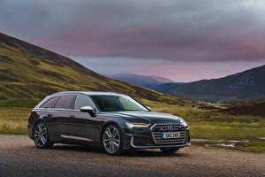 Image Audi Metallic Estate car 2019 S6 Avant TDI auto
