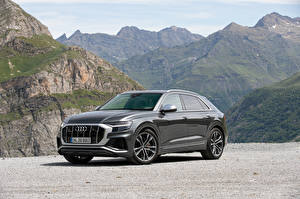 Hintergrundbilder Audi Graue Metallisch 2019 SQ8 TDI Worldwide Autos