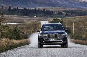 Fotos BMW Vorne Crossover Blau 2019 X7 G07 Autos