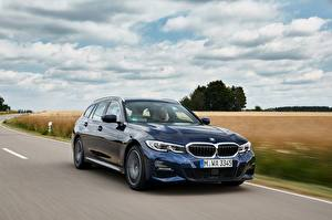 Pictures BMW At speed Blue Metallic 3-series,2020, G21, 330d xDrive auto