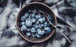 Picture Blueberries Milk Cup Spoon Food
