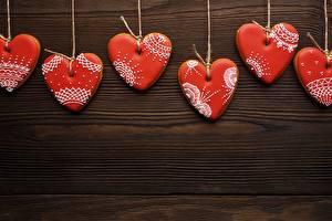 Sfondi desktop Biscotti Festa di san Valentino Cuore Modello biglietto di auguri