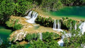 Fotos Kroatien Parks Wasserfall Krka national park Natur