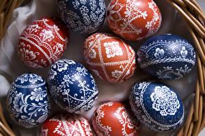 Hintergrundbilder Ostern Ornament Hautnah Ei