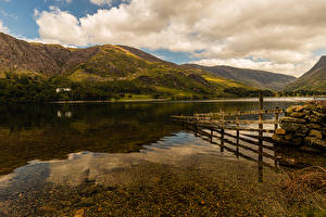 Picture England Rivers Mountains Coast Buttermere Allerdale District Nature