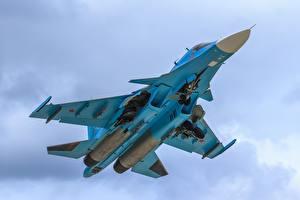 Fotos Flugzeuge Jagdflugzeug Bomber Suchoi Su-34