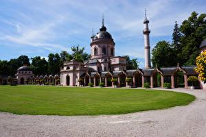 Fotos Deutschland Tempel Moschee Rasen Mosque in Schwetzingen Palace Städte
