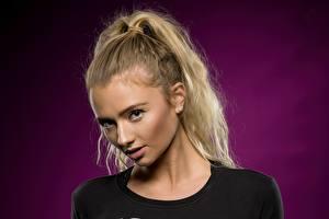 Hintergrundbilder Blick Blondine Gesicht junge frau