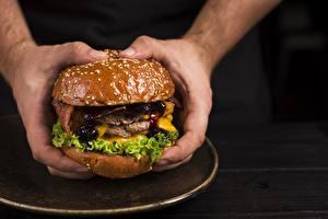 Bilder Burger Großansicht Hand Lebensmittel