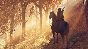 Bilder Pferde Assassin's Creed Odyssey 3D-Grafik Mädchens