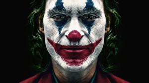 Fondos de escritorio Joker Héroe De cerca Joker 2019 Payaso Cara Joaquin Phoenix Joker Película