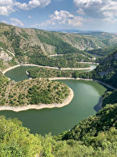 Picture Lake Serbia Hill Canyons Uvac Canyon Nature