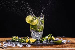 Picture Mojito Lime Water splash Highball glass Ice Food