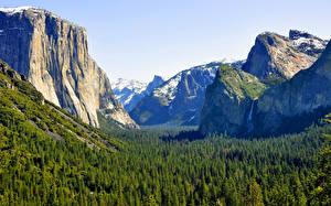 Fotos Gebirge Wälder Park Vereinigte Staaten Kalifornien Yosemite Sierra Nevada mountains.