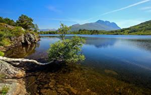 Hintergrundbilder Berg See Norwegen  Natur