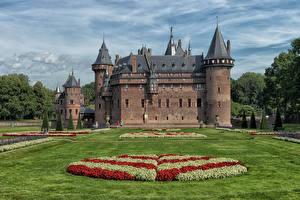Bilder Niederlande Burg Landschaftsbau Rasen De Haar Castle Städte