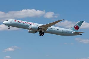 Fotos Verkehrsflugzeug Boeing Seitlich 787-9, Dreamliner, Air Canada