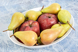 Pictures Pears Apples Plate