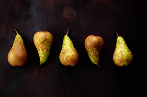 Image Pears Closeup Black background Food