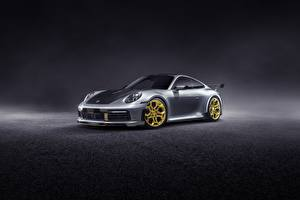 Image Porsche Silver color 911 Carrera TechArt 992 2019 Cars