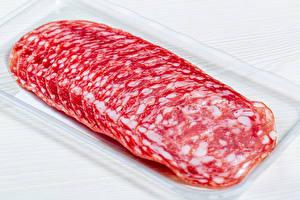 Images Sausage White background Sliced food Salami Food
