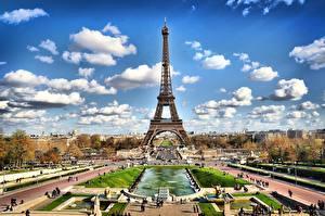 Fotos Himmel Parks Paris Eiffelturm