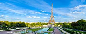 Hintergrundbilder Himmel Park Paris Eiffelturm Bäume