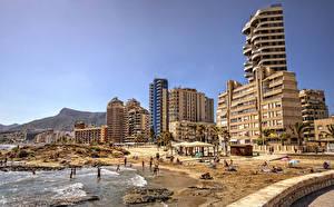 Bilder Spanien Haus Strände Calp Valencia Städte